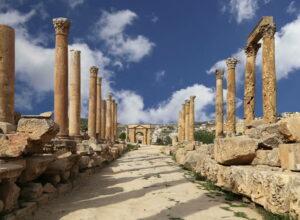 Jerash, columns Street, Jordan, Jordan Day Tour And More, Driver in Jordan